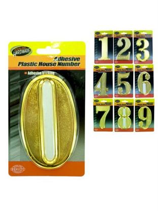 Picture of Plastic house numbers with adhesive back (Available in a pack of 15)