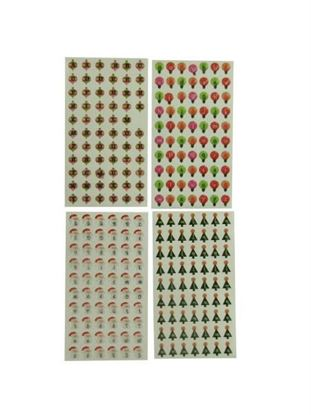 Picture of 4 sheet holiday epoxy bubble stickers assorted designs (Available in a pack of 24)