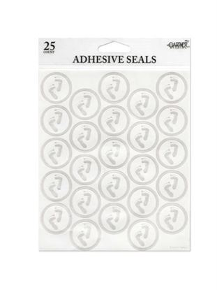 Picture of Baby feet foil seals (Available in a pack of 24)