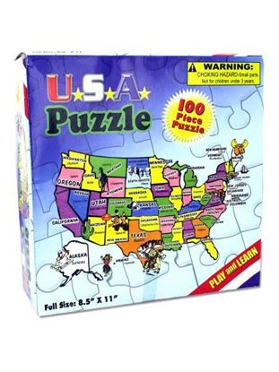 Picture of 100-piece USA puzzle (Available in a pack of 24)