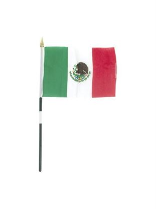 Picture of Mexico flag 4 x 6 in. (Available in a pack of 36)