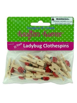 Picture of Ladybug clothespins (Available in a pack of 25)