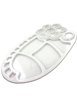 Picture of Flower-design painting tray palette, white (Available in a pack of 24)