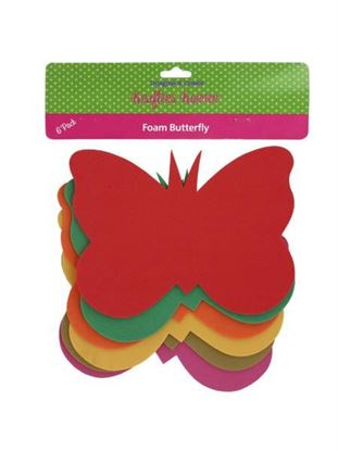 Picture of 6 Pack foam butterfly craft shapes (Available in a pack of 24)