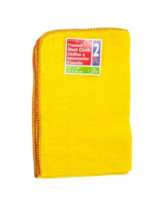 Picture of 2 pack flannel dust cloth 14 x 20 inch (Available in a pack of 24)