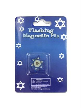 Picture of Flashing Hanukkah pin (Available in a pack of 24)
