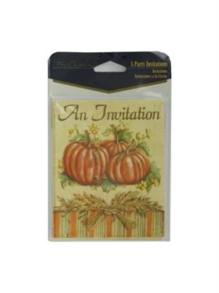 Picture of Harvest invitations, pack of 8 (Available in a pack of 24)