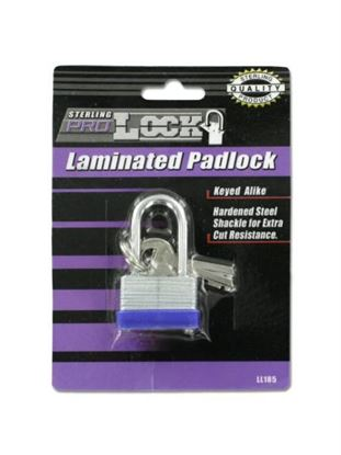 Picture of 30MM laminated padlock with keys (Available in a pack of 24)