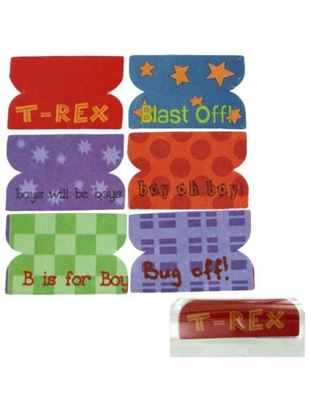 Picture of 72 Little Boy Plastic Index Tabs (Available in a pack of 24)