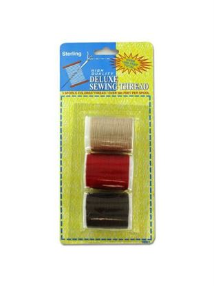Picture of 3 Pack deluxe sewing thread (assorted colors) (Available in a pack of 24)