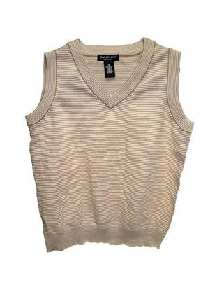Picture of Brown striped vest assorted sizes (Available in a pack of 18)