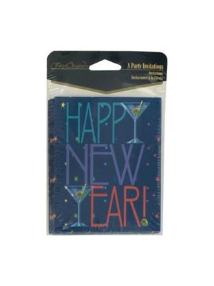 Picture of Happy New Year invitations, pack of 8 (Available in a pack of 24)