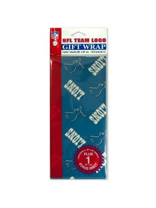 Picture of Detroit Lions team logo flat gift wrap (Available in a pack of 24)