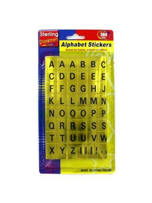 Picture of Alphabet stickers (Available in a pack of 24)