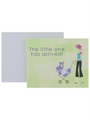 Picture of Baby announcements with modern mom, set of 8 (Available in a pack of 24)