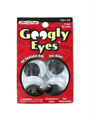 Picture of Big googly eyes, pack of 8 (Available in a pack of 18)