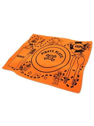 Picture of Foam pirate placemat, assorted colors (Available in a pack of 18)