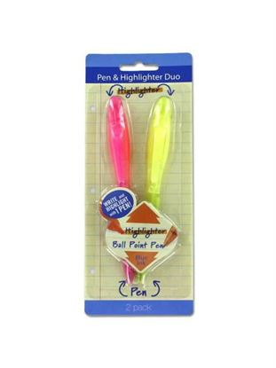 Picture of Pen and highlighter duo, pack of 2 (Available in a pack of 24)