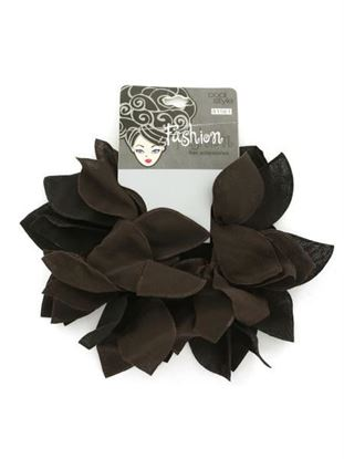 Picture of 2-pack black and brown hair bands. (Available in a pack of 24)