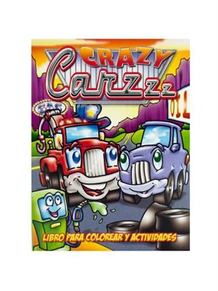 Picture of Crazy cars coloring and activity book (Available in a pack of 24)