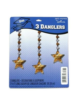 Picture of Congrats Grad party danglers, pack of 3 (Available in a pack of 24)