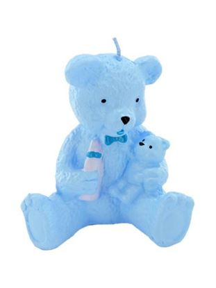 Picture of 2.5 inch x 3.5 inch blue bear candle (Available in a pack of 24)