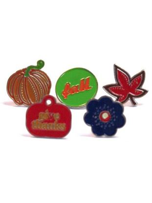 Picture of Harvest enamel brads (Available in a pack of 24)