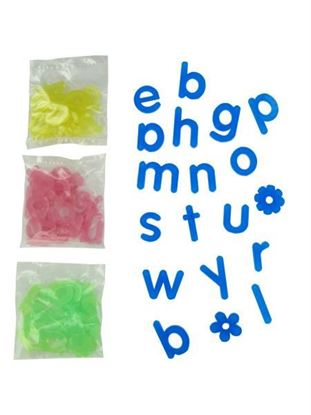 Picture of 90 Frosted Alphabet Shapes (Available in a pack of 30)