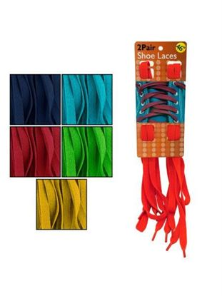 Picture of 2pr boot laces 6 asst clr (Available in a pack of 20)