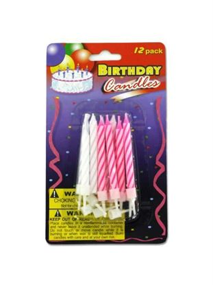 Picture of Birthday candles with plastic stands (Available in a pack of 24)