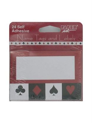 Picture of Card Night name tags/labels, package of 24 (Available in a pack of 24)