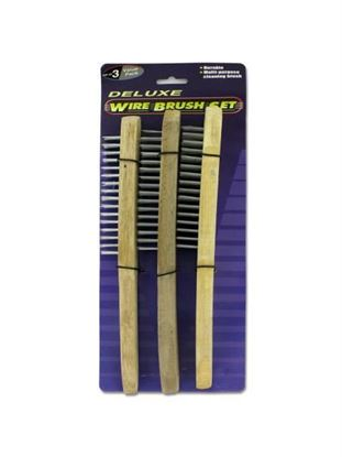 Picture of 3 Pack deluxe wire brush set (Available in a pack of 24)