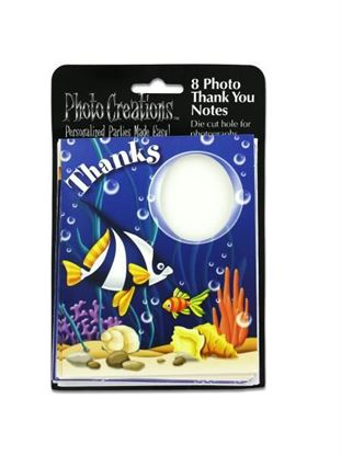 Picture of Sea life photo 'thank you' cards, pack of 8 (Available in a pack of 24)