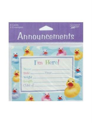 Picture of Rubber ducky invitations with envelopes (Available in a pack of 24)