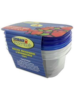 Picture of 3 Pack rectangular food containers with lids (Available in a pack of 12)