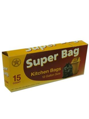 Picture of Super bag kitchen bags, 13 gallon (Available in a pack of 24)