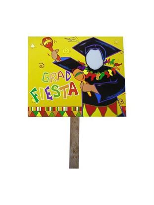 Picture of Grad fiesta two sided yard sign (Available in a pack of 18)