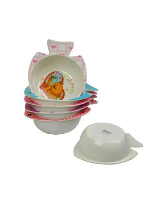 Picture of Melamine assorted bright kid's bowls (Available in a pack of 24)