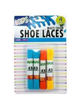 Picture of Kids colored shoelaces (Available in a pack of 24)