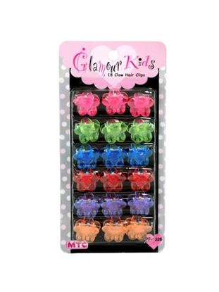 Picture of 18 piece claw hair clips 2 assorted (Available in a pack of 24)