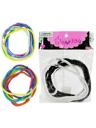 Picture of 6 large elastic headbands 3 assorted (Available in a pack of 24)