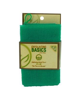 Picture of Green exfoliating wash towel 12 inch x 36 inch (Available in a pack of 24)