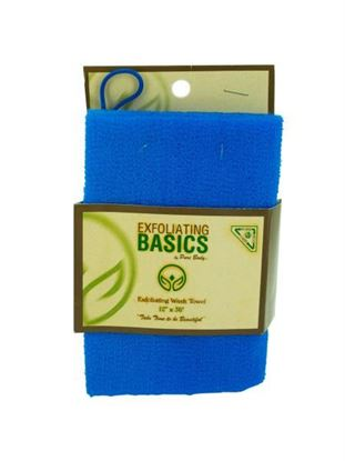 Picture of Blue exfoliating wash towel 12 inch x 36 inch (Available in a pack of 24)