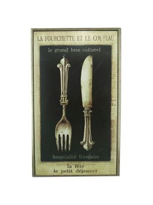 Picture of French wall plaque 37899 (Available in a pack of 1)