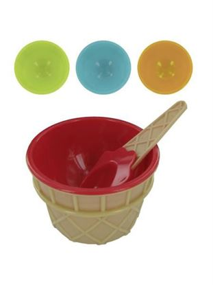 Picture of Ice cream bowl and matching spoon set (Available in a pack of 24)