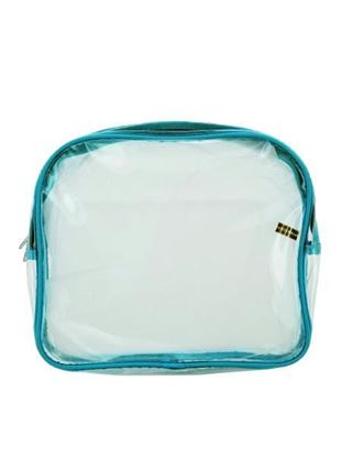 Picture of Blue trim cosmetic bag (Available in a pack of 25)