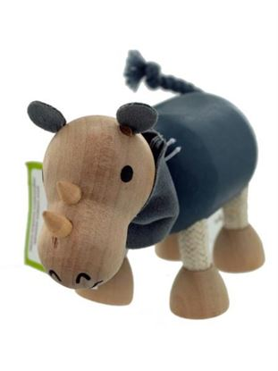 Picture of 5pk wooden rhinos 14088 (Available in a pack of 1)