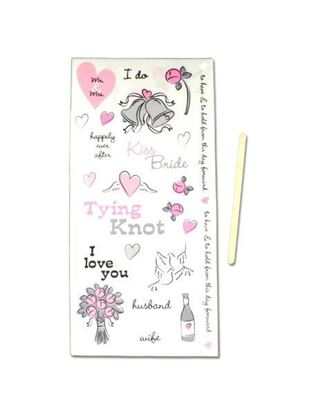 Picture of Wedding scrapbook rub-on embellishments (Available in a pack of 25)