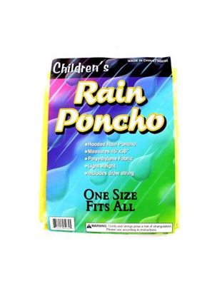 Picture of Children's rain poncho (Available in a pack of 24)