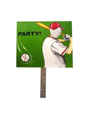 Picture of Baseball photo yard sign (Available in a pack of 18)